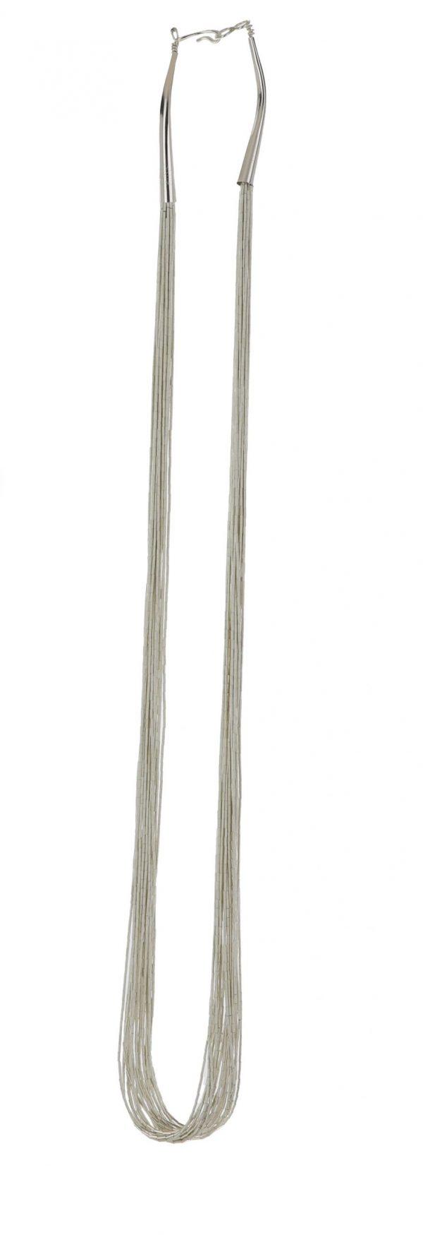 20 Strand Liquid Silver Necklace