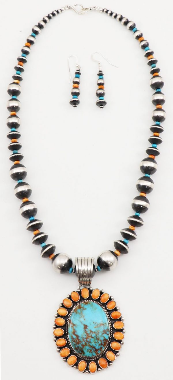 Navajo Necklace and Earring Set