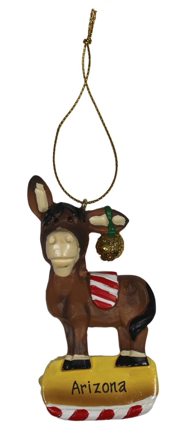 Arizona Mule Christmas Ornament