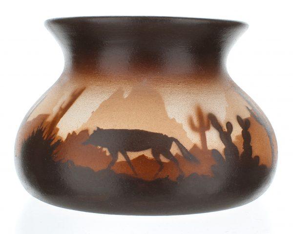 Brown Sonora Desert Med Candle Holder