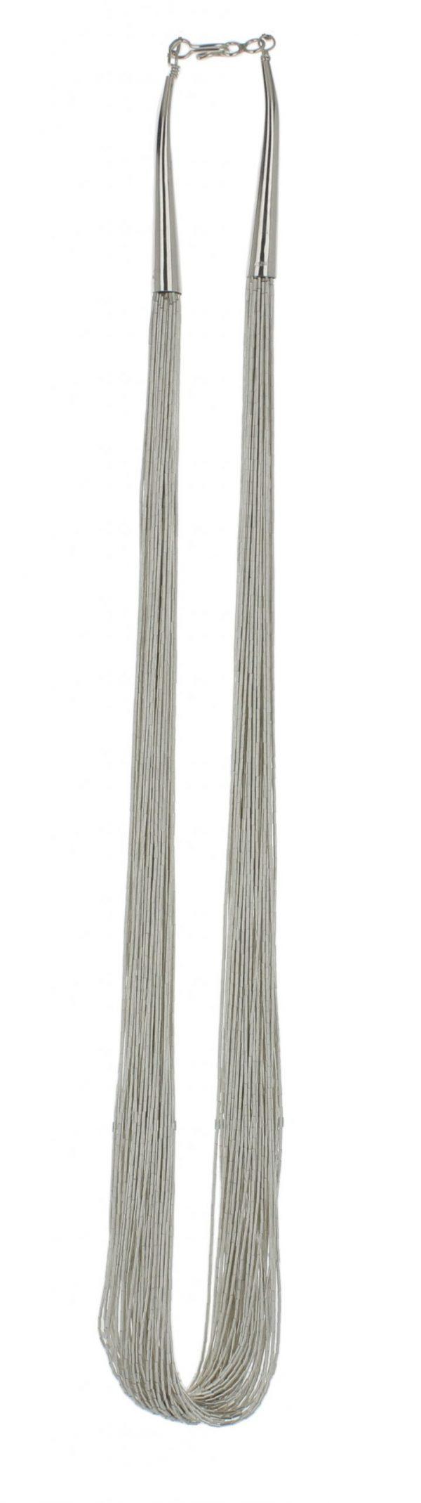 50 Strand Liquid Silver Necklace