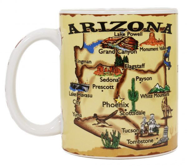 Arizona Map Mug Cameron Trading Post