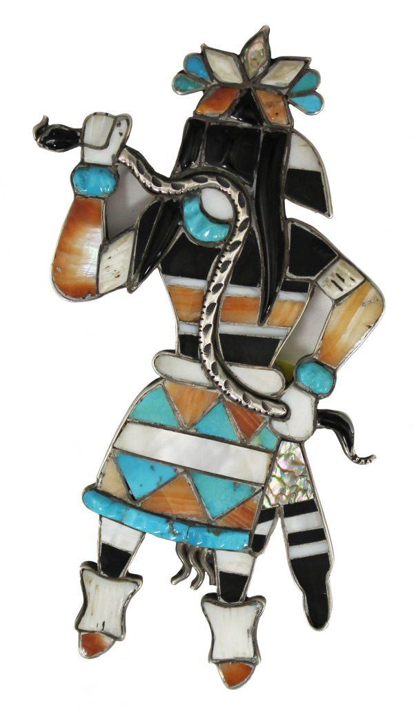 Leo Poblano - Vintage Zuni Inlay Pin