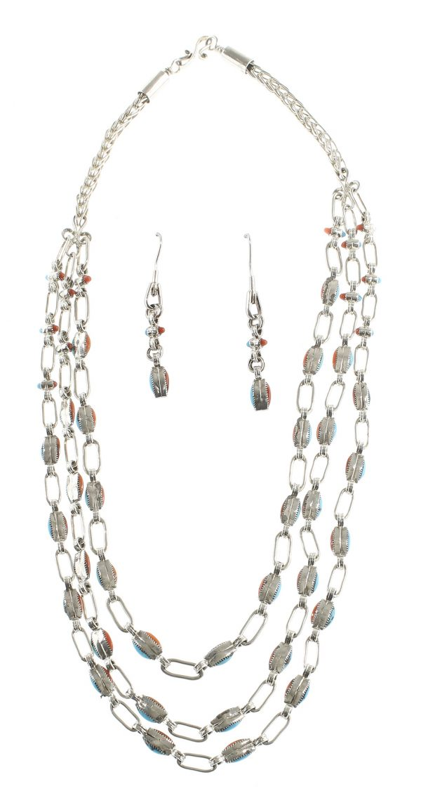 Zuni Necklace and Earring Set
