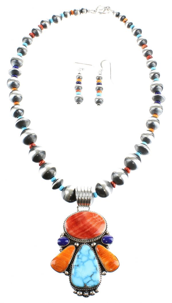 Navajo Necklace and Earrings Set