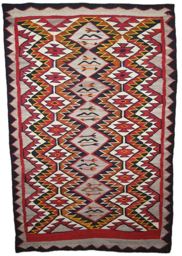 Navajo Handwoven Red Mesa Rug