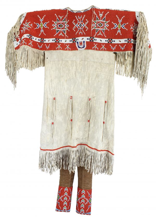 Sioux Beaded Hide Dress and Leggings