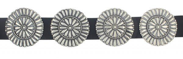 Navajo Sterling Silver Concho Belt