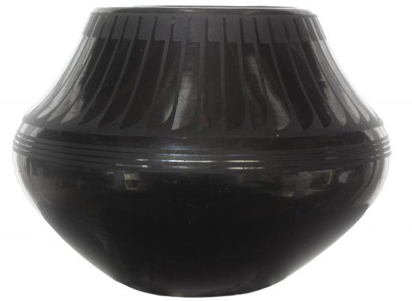 San Ildefonso Blackware Clay Jar