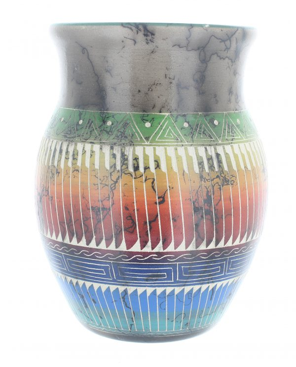 Navajo Horse Hair Etched Pottery
