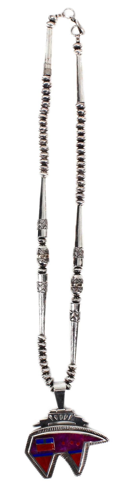 Handmade Navajo Bear Necklace