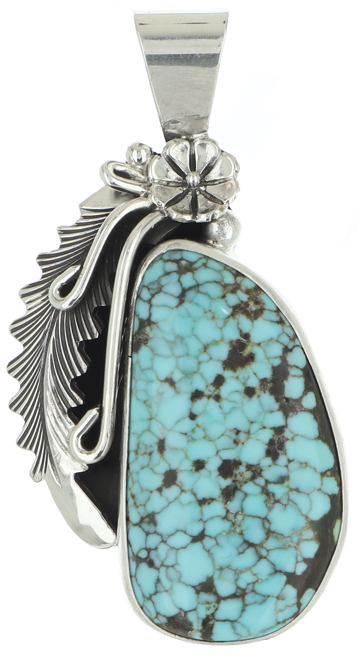 ITEM 147 25x18mm Lavendar Turquoise Pendant by Mirths MInerals