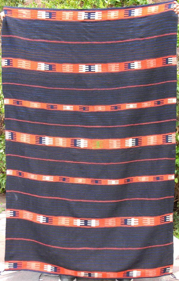 Antique Moki Serape Rug - A1570