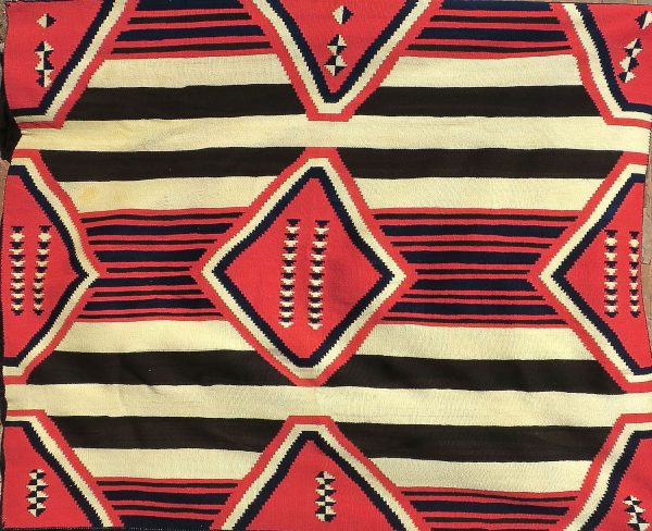 Navajo Handwoven Late Classic Chief's Blanket