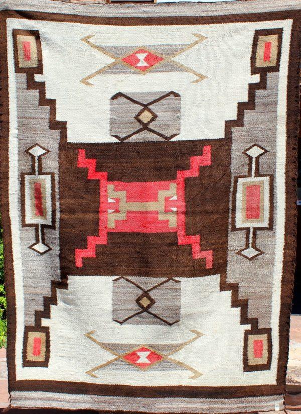 A1691 - Navajo Handwoven Storm Pattern Rug