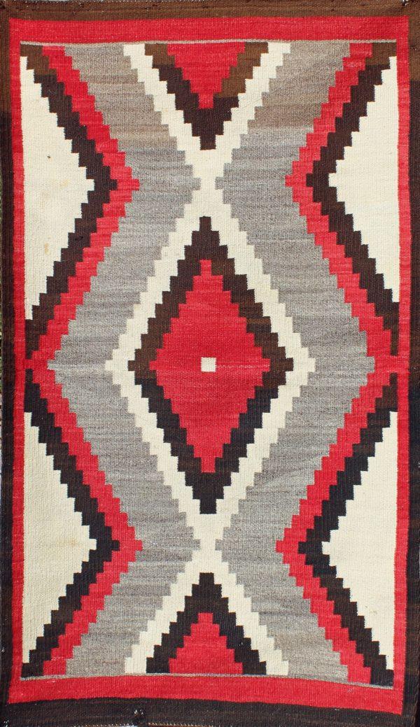 Navajo Handwoven Western Reservation Rug