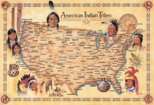 American Indian Tribes Poster - POS100