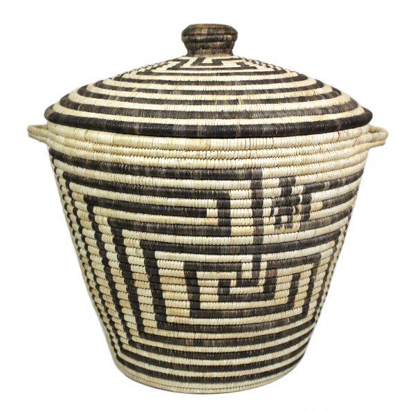 Tohono O'odham Man in the Maze Lidded Basket