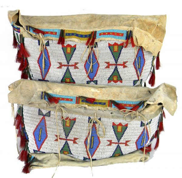 Pair of Sioux Beaded Possible Bags