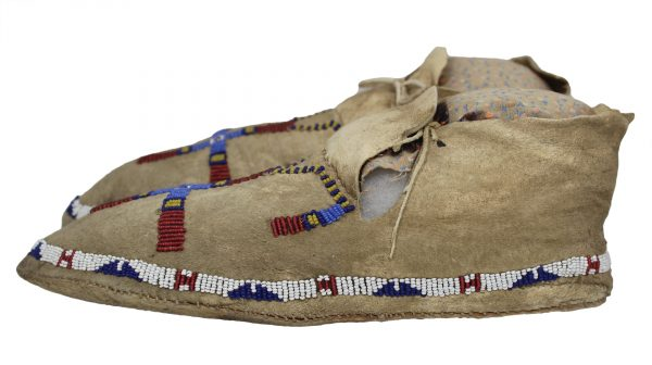 Antique Cheyenne Beaded Moccasins