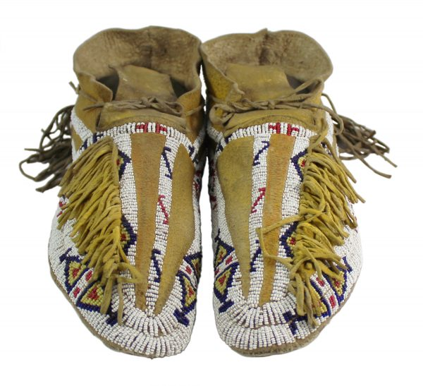 Southern Cheyenne Beaded Moccasins CA 1880