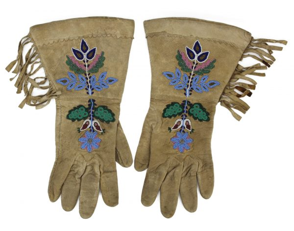 Plains Indian Beaded Gauntlets