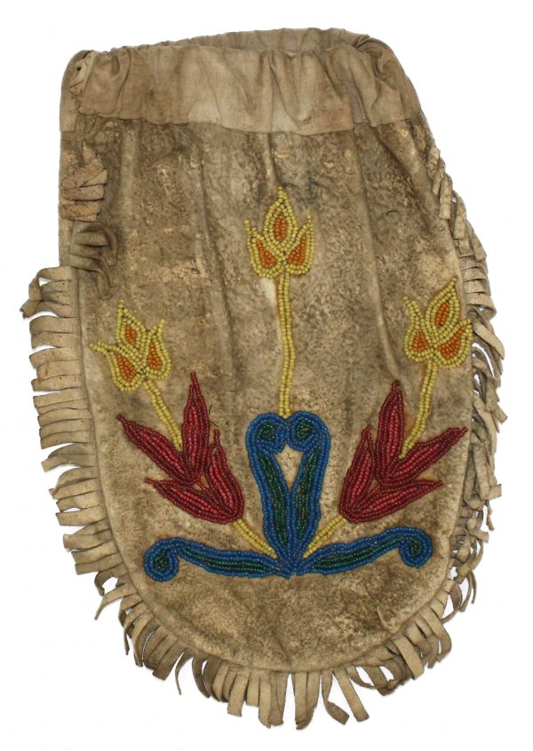 Plains Indian Beaded Hide Bag
