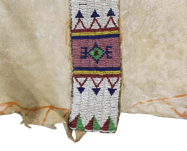 Beaded and Painted Hide