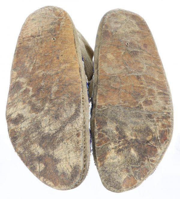 Sioux Parfleche Sole Beaded Moccasins