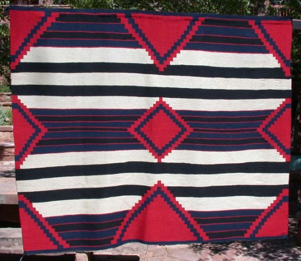 NAVAJO THIRD PHASE CHIEF'S BLANKET - A1424