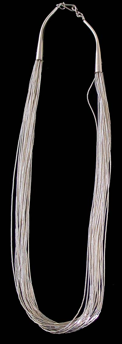 20 STRAND LIQUID SILVER NECKLACE - LS10