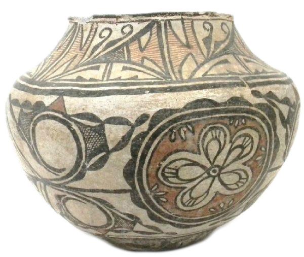 Antique Zuni Polychrome Jar