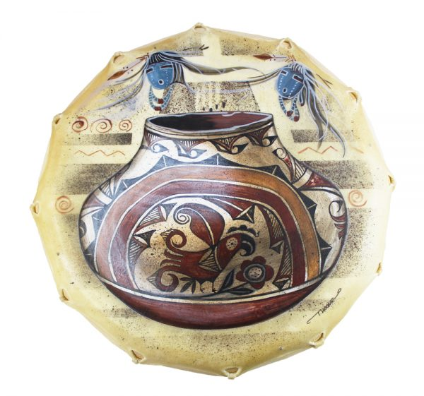 DRM16107 - Large Handpainted Drum by Tanya Hogue
