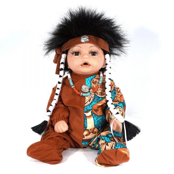 DN112 - Navajo Handmade Porcelain Doll by Cheryl Yazza