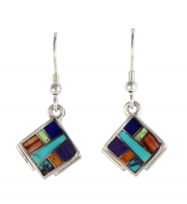 Navajo Inlaid Earrings