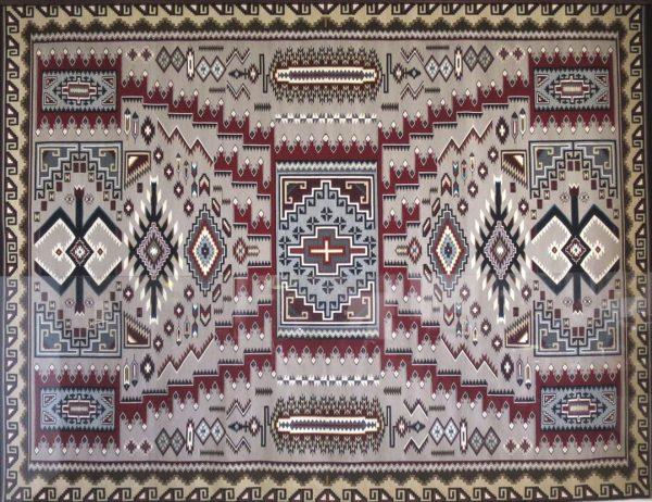 Navajo Handwoven Storm Pattern Rug by Elsie Glander - R10190;919724