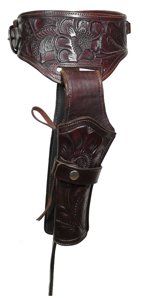 Western Leather Gun Holster and Belt