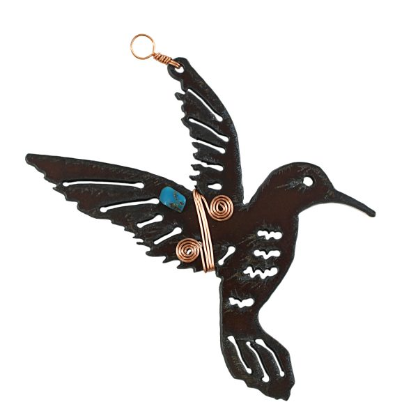 24657TQ3 - Hummingbird Ornament with Copper and Turquoise