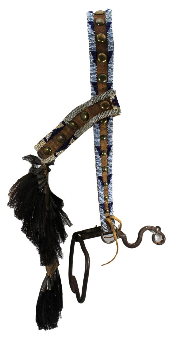 Early Crow Beaded Bridle
