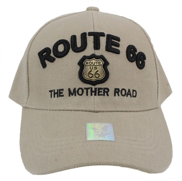 Route 66 Gold Metal Cap