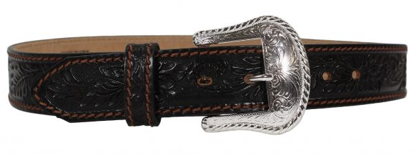 Tony Lama Floral Western Leather Belt
