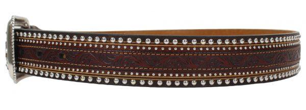 Tony Lama Jagged Rail Western Leather Belt