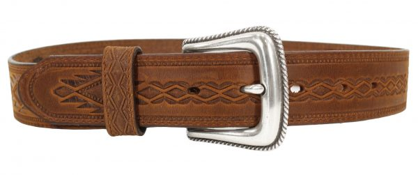 Tony Lama Navajo Blanket Western Leather Belt