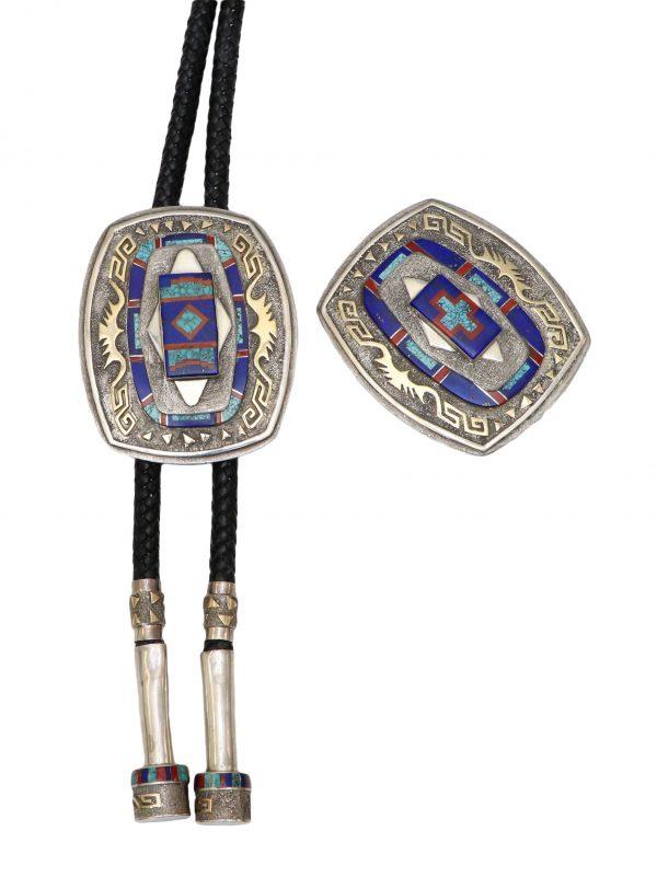 Navajo Bolo Tie and Buckle Set