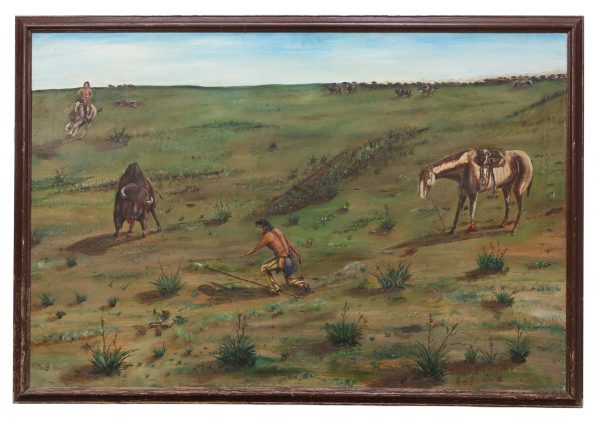 Buffalo Hunt Painting