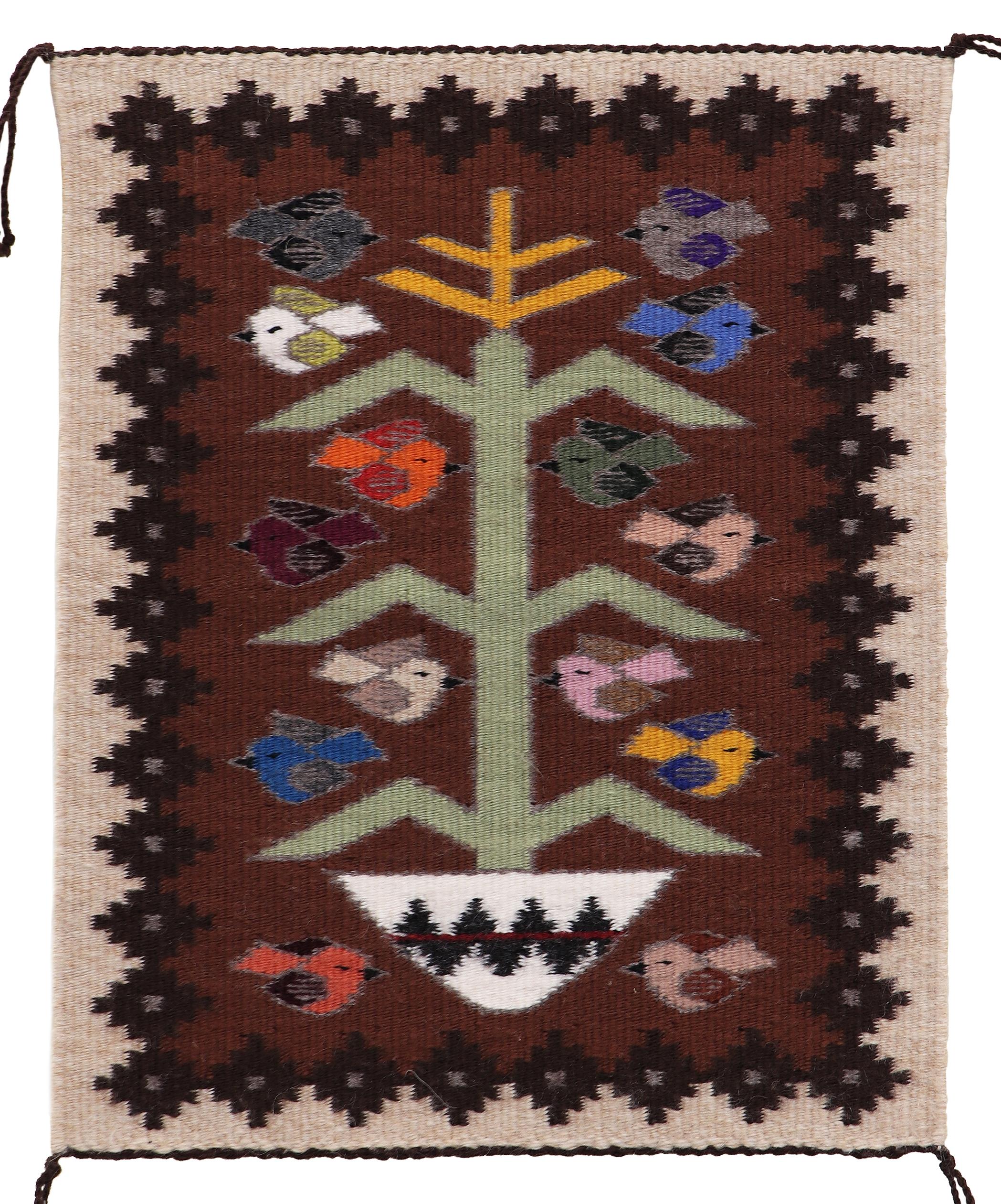 Navajo Handwoven Tree Of Life Rug