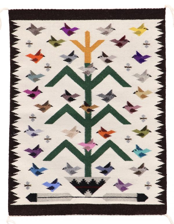 Navajo Handwoven Tree of Life Rug