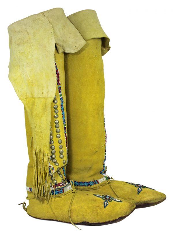 Vintage Kiowa Handmade Women's Boot Moccasins