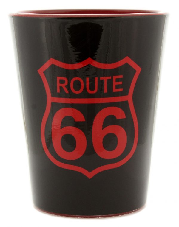 Route 66 Frosted Sign Shot Glass
