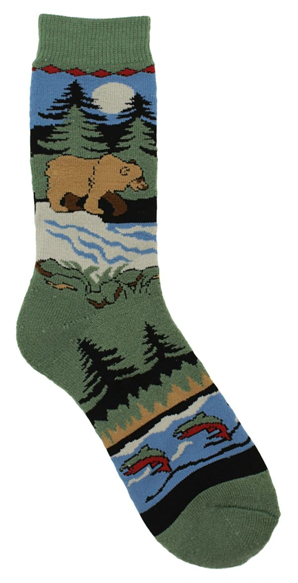 Brown Bear Towel Socks